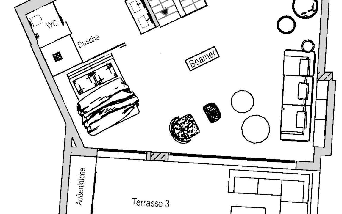 Villas for sale Ibiza - Penthouse White Dream Floor 1