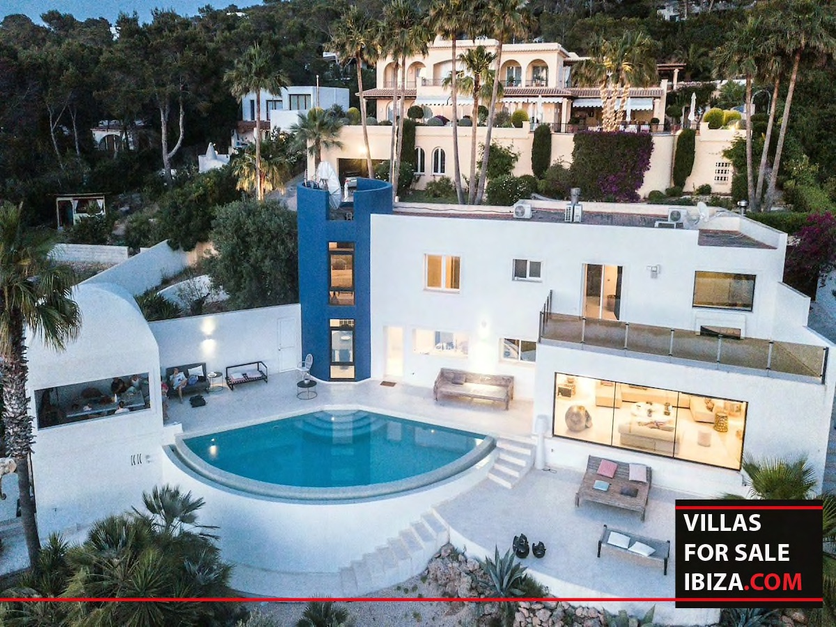 Villas for sale ibiza, villa blue , villa blue cala conta, cala combte, cala conta villas, ibiza real estate, ibiza estates